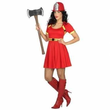 Sexy brandweervrouw carnavalskleding/jurkje voor dames
