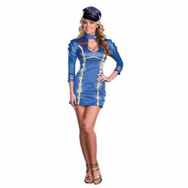 Sexy lichtgevende stewardessen carnavalskleding