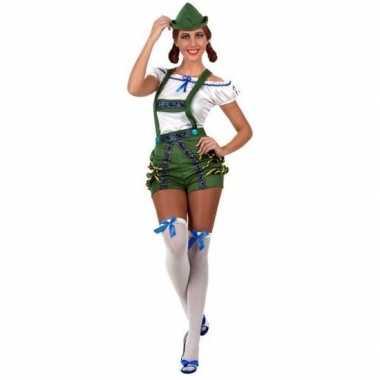 Sexy pak/carnavalskleding groen voor dames