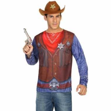 Sheriff carnavalskleding voor heren 10078270