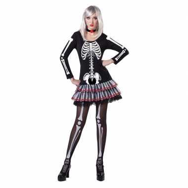 Skelet carnavalskleding voor dames