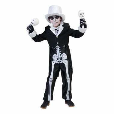 Skelet carnavalskleding voor jongens