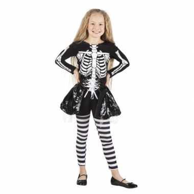 Skelet carnavalskleding voor meisjes