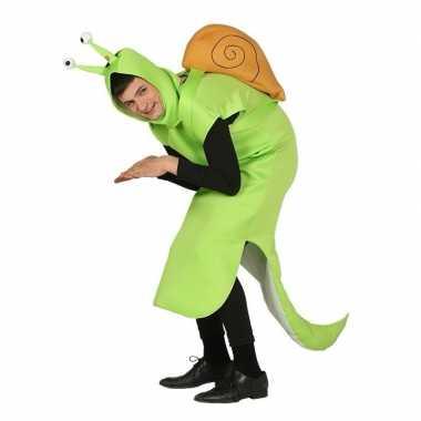 Slak carnavalskleding groen voor volwassenen