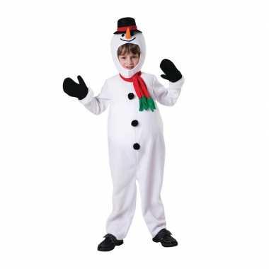 Sneeuwpop carnavalskleding voor kinderen