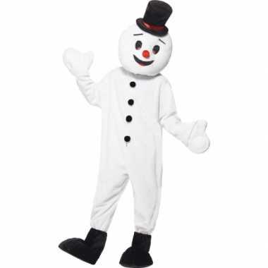 Sneeuwpop mascotte carnavalskleding