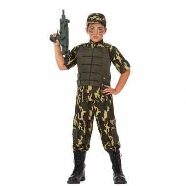 Soldaat/leger carnavalskleding voor jongens