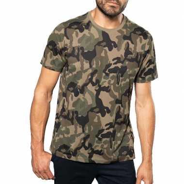 Soldaten / leger carnavalskleding camouflage shirt heren