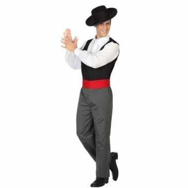 Spaanse flamencodanser carnavalskleding voor heren