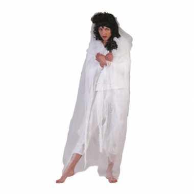 Spook carnavalskleding cape wit
