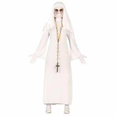 Spookachtige nonnen carnavalskleding voor dames