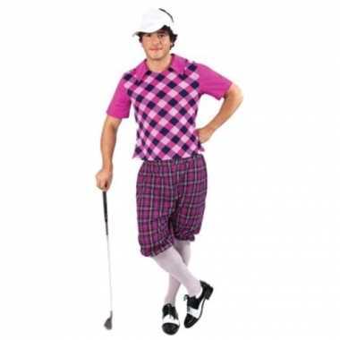 Sportieve golfers carnavalskleding voor heren
