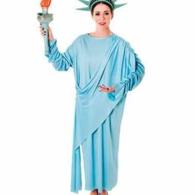 Statue of liberty carnavalskleding met hoofdtooi