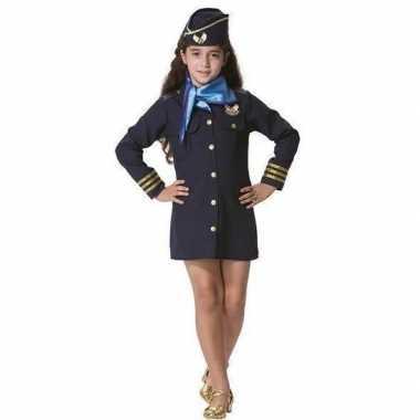 Stewardess carnavalskleding voor meisjes