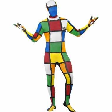 Strak rubiks kubus carnavalskleding