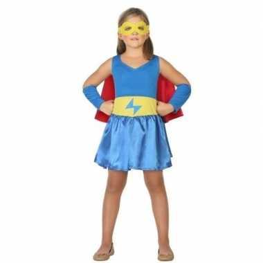 Supergirl jurk/jurkje carnavalskleding voor meisjes