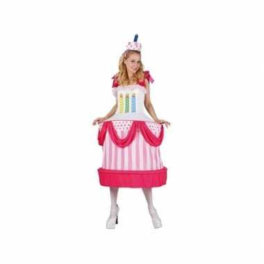 Taart met kaarsjes dames carnavalskleding