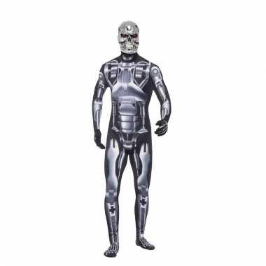 Terminator endoskeleton carnavalskleding voor heren