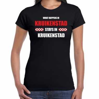 Tilburg/kruikenstad carnaval carnavalskleding / t shirt zwart dames
