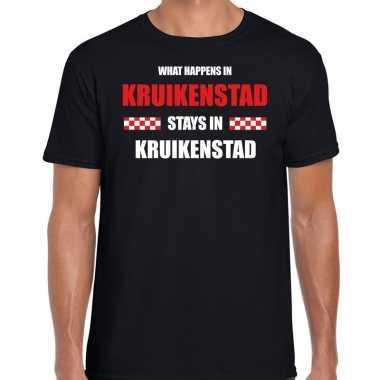Tilburg/kruikenstad carnaval carnavalskleding / t shirt zwart heren