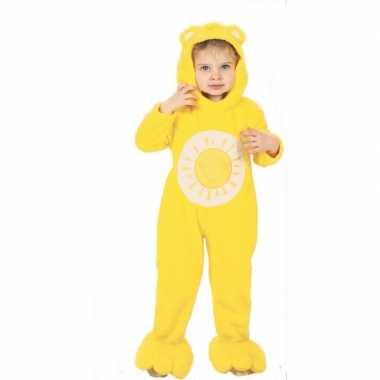 Troetelberen carnavalskleding geel voor kinderen