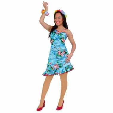 Tropische carnavalskleding hawaii jurkje