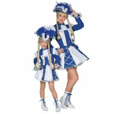 Twirl carnavalskleding blauw voor meiden