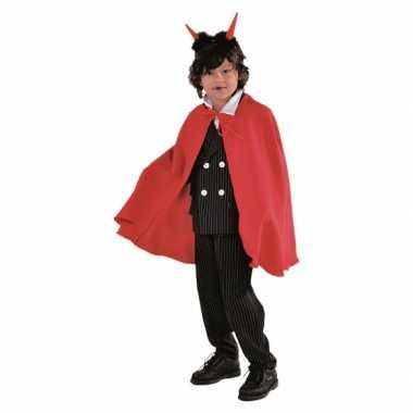 Vampier carnavalskleding cape rood