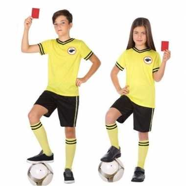 Voetbal scheidsrechter carnavalskleding voor kinderen