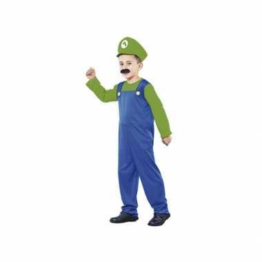 Voordelig groen loodgieter carnavalskleding voor jongens