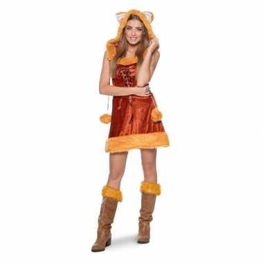 Vos dierencarnavalskleding jurkje voor dames