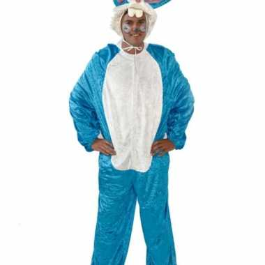 Vrijgezellen carnavalskleding blauw konijn