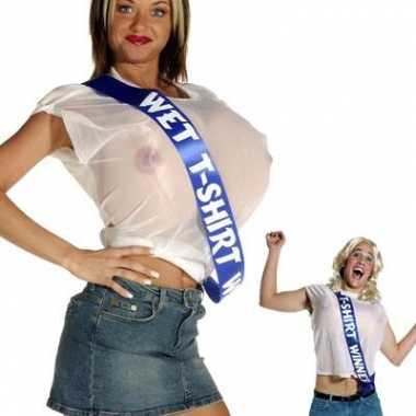 Wet t shirt contest winner carnavalskleding
