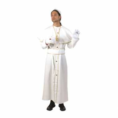 Wit carnavalskleding kardinaal