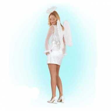 Wit engelen carnavalskleding voor vrouwen
