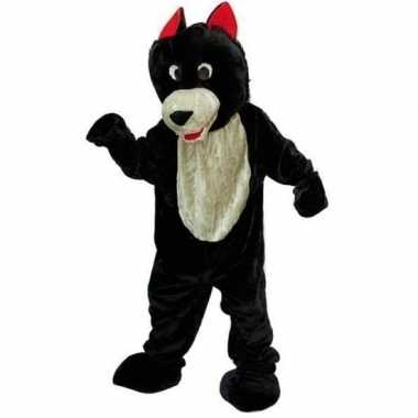 Wolf carnavalskleding van pluche