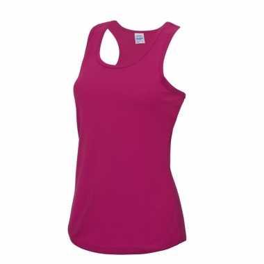 Yoga carnavalskleding roze dames sport top