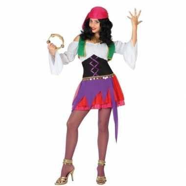 Zigeunerin carnavalskleding 3 delig voor dames