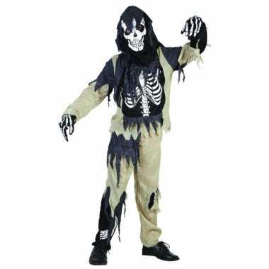 Zombie skeletten carnavalskleding kinderen