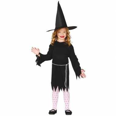 Zwart heksen carnavalskleding budget voor meisjes
