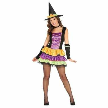 Zwart heksen carnavalskleding voor dames