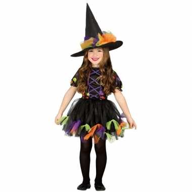 Zwart heksen carnavalskleding voor meisjes