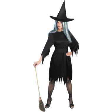 Zwart heksencarnavalskleding dames