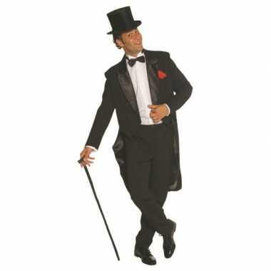 Zwart heren carnavalskleding broek en jas