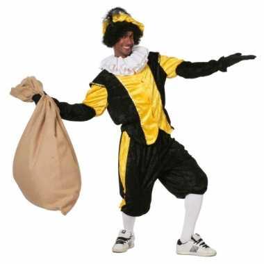 Zwart met geel pieten carnavalskleding