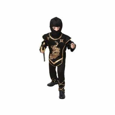 Zwart ninja carnavalskleding