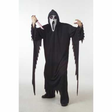 Zwart scream carnavalskleding/gewaad voor volwassenen