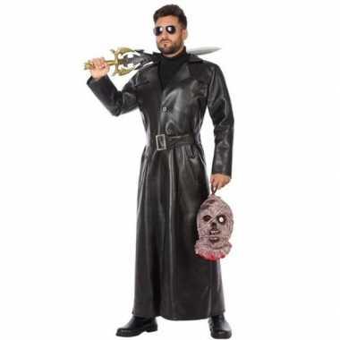 Zwart vampierjager carnavalskleding voor heren
