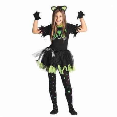 Zwarte poes/kat carnavalskleding voor meisjes