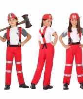Brandweer pak carnavalskleding voor jongens en meisjes